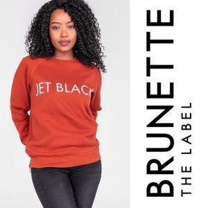 Brunette the Label Jet Black Classic Crew in Rust
